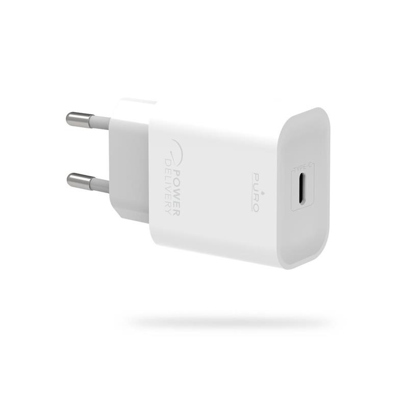 Puro Fast Travel Charger USB-C 20W (white)