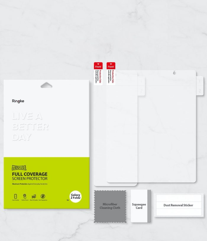 ringke invisible defender samsung galaxy z fold 2 [2 pack] - export 1575
