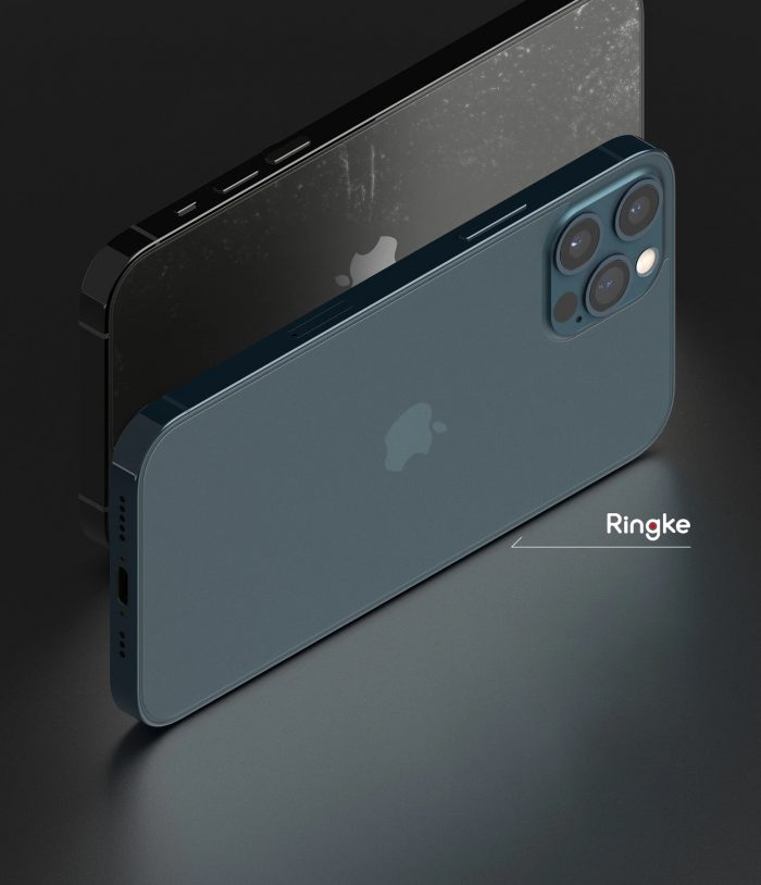 ringke invisible defender back protector matte iphone 12/12 pro [2 pack] - export 2794