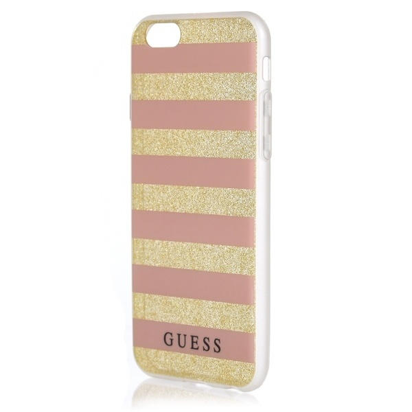 more iphone - guess guhcp7stgpi apple iphone 7 gold/pink hardcase ethnic chic stripes 3d - 1 - krytarna.cz