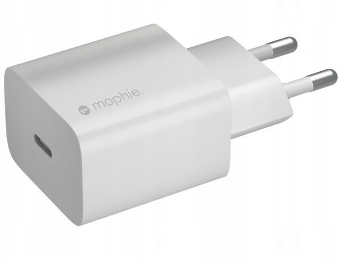 wall chargers - mophie wall charger usb-c 20w (white) - 1 - krytarna.cz