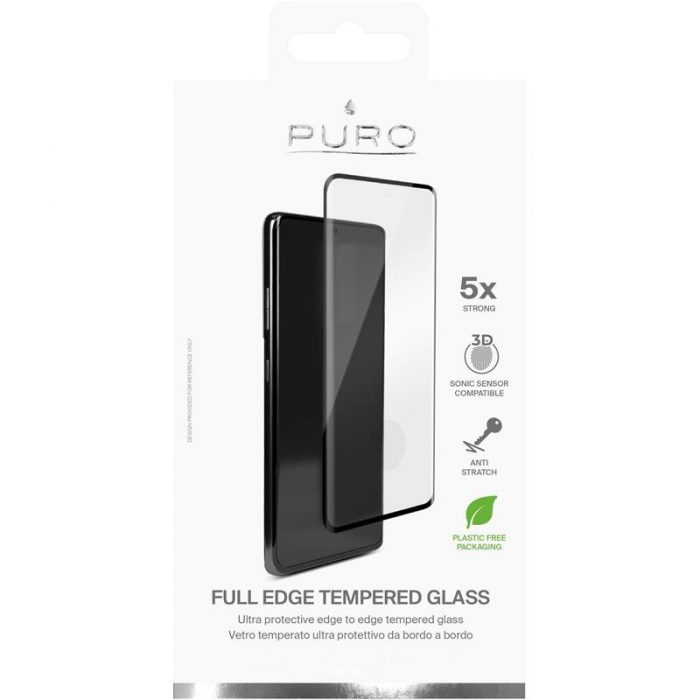 s21 ultra - puro premium full edge tempered glass case friendly samsung galaxy s21 ultra (black) - 2 - krytarna.cz