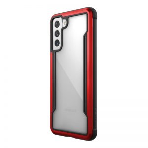 S21 Plus - X-Doria Raptic Shield Aluminum Case Samsung Galaxy S21+ Plus (Antimicrobial protection) (Red) - 1 - krytarna.cz