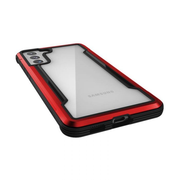 s21 plus - x-doria raptic shield aluminum case samsung galaxy s21+ plus (antimicrobial protection) (red) - 5 - krytarna.cz