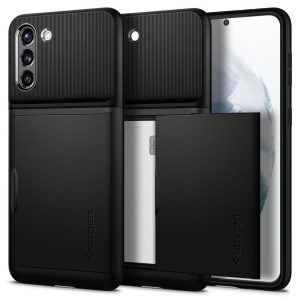 S21 Plus - Spigen Slim Armor Cs Galaxy S21+ Plus Black - 1 - krytarna.cz