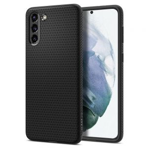 S21 Plus - Spigen Liquid Air Galaxy S21+ Plus Matte Black - 1 - krytarna.cz