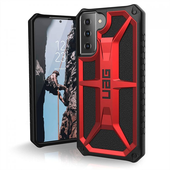 s21 plus - etui uag monarch samsung galaxy s21+ 5g (crimson) - 1 - krytarna.cz