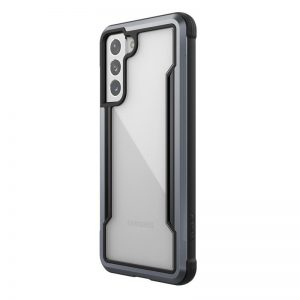 S21 - X-Doria Raptic Shield Aluminum Case Samsung Galaxy S21 (Antimicrobial protection) (Black) - 1 - krytarna.cz