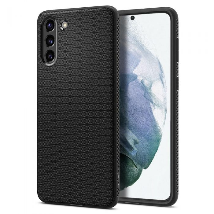 s21 - spigen liquid air galaxy s21 matte black - 1 - krytarna.cz