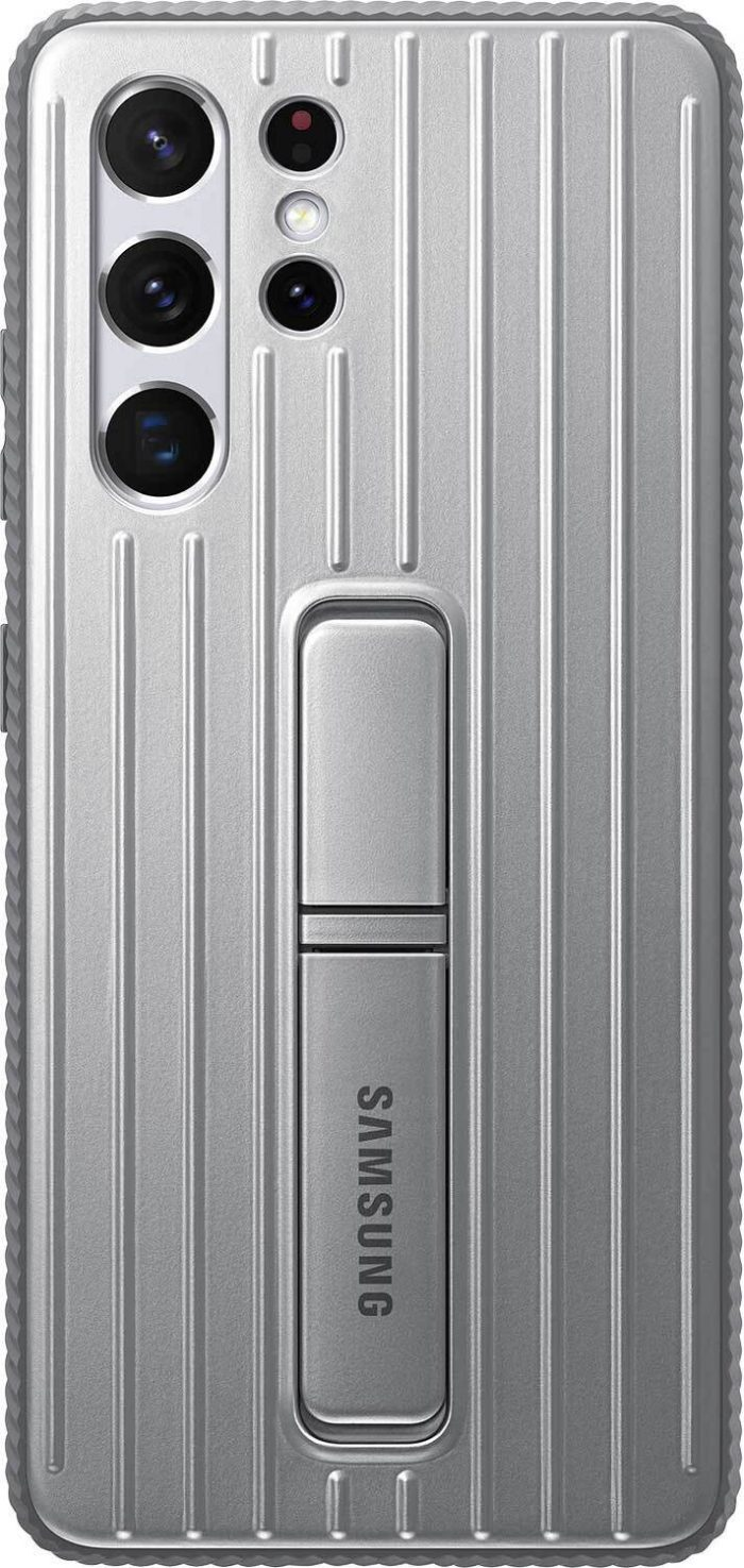 s21 ultra - samsung galaxy s21 ultra ef-rg998cj light gray protective standing cover - 1 - krytarna.cz