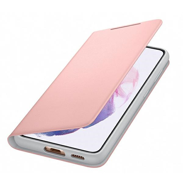 s21 plus - samsung galaxy s21+ plus ef-ng996pp pink led view cover - 4 - krytarna.cz