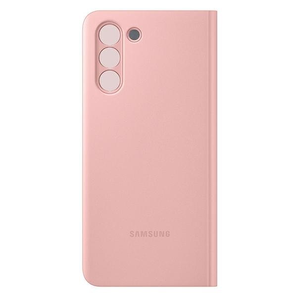 s21 - samsung galaxy s21 ef-zg991cp pink clear view cover - 2 - krytarna.cz