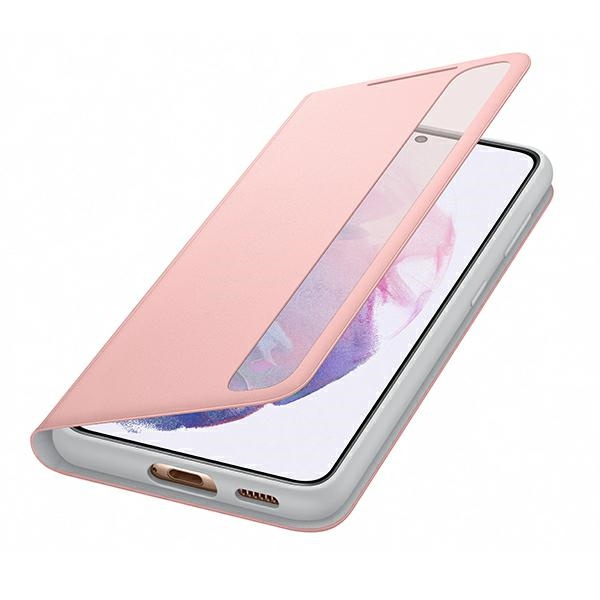 s21 - samsung galaxy s21 ef-zg991cp pink clear view cover - 5 - krytarna.cz