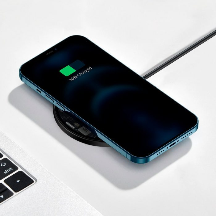 wireless chargers - baseus simple 15w wireless induction charger with magnet (transparent) - 7 - krytarna.cz
