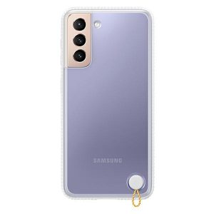 S21 Plus - Samsung Galaxy S21+ Plus EF-GG996CW white Clear Protective Cover - 1 - krytarna.cz