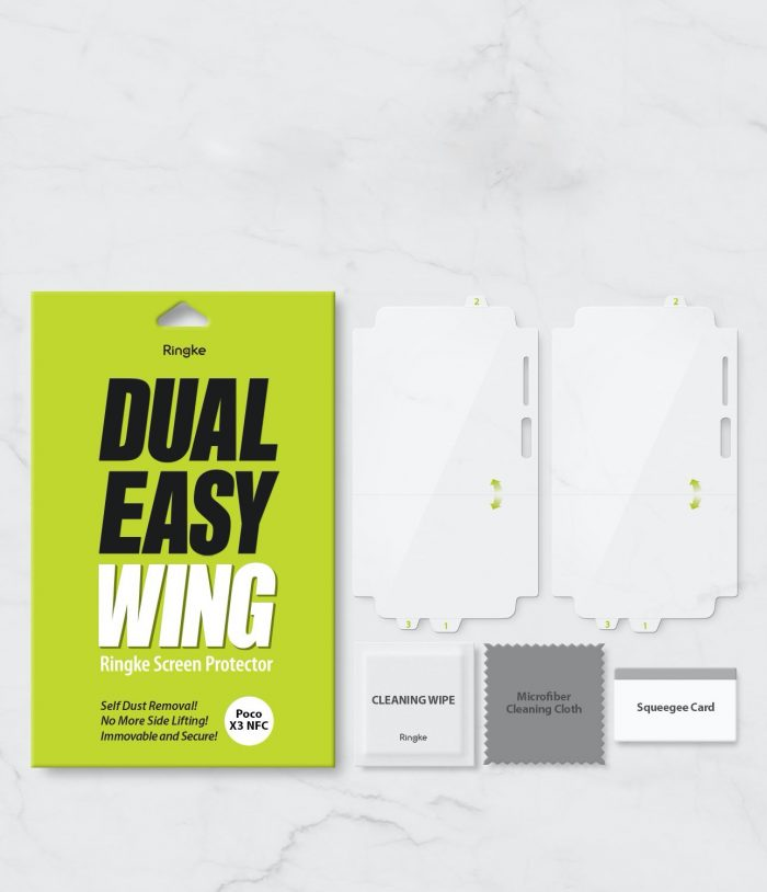 ringke dual easy wing full cover pocophone x3 nfc [2 pack] - export 739