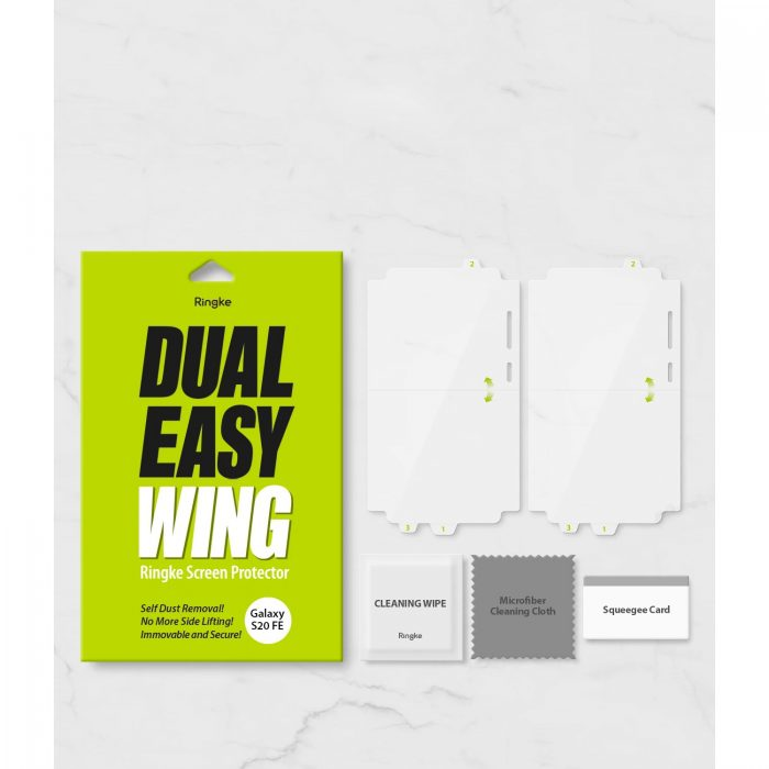 ringke dual easy wing full cover samsung galaxy s20 fe [2 pack] - export 975
