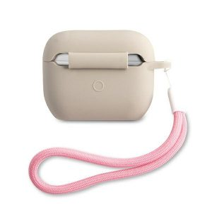AirPods - Guess GUACAPLSVSGP Apple AirPods Pro cover grey pink Silicone Vintage - 2 - krytarna.cz