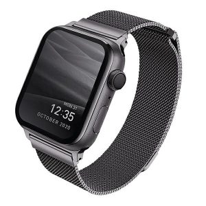 Apple Watch - UNIQ Dante Apple Watch Series 4/5/6/SE 40mm Stainless Steel graphite - 1 - krytarna.cz
