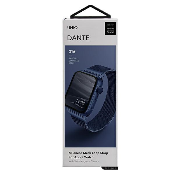 apple watch - uniq dante apple watch series 4/5/6/se 40mm stainless steel marine blue - 2 - krytarna.cz