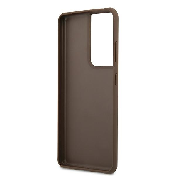 s21 ultra - guess guhcs21lg4gfbr samsung galaxy s21 ultra brown hard case 4g metal gold logo - 7 - krytarna.cz