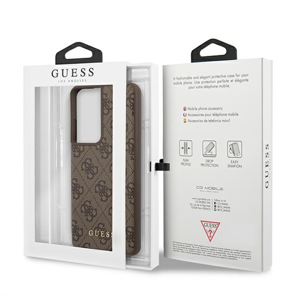 s21 ultra - guess guhcs21lg4gfbr samsung galaxy s21 ultra brown hard case 4g metal gold logo - 8 - krytarna.cz