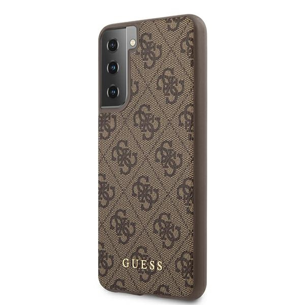 s21 - guess guhcs21sg4gfbr samsung galaxy s21 brown hard case 4g metal gold logo - 2 - krytarna.cz