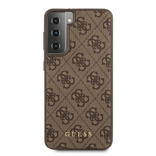 s21 - guess guhcs21sg4gfbr samsung galaxy s21 brown hard case 4g metal gold logo - 3 - krytarna.cz