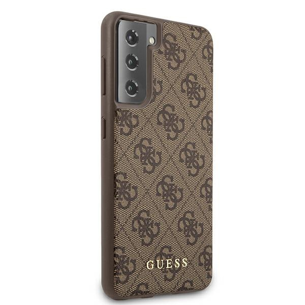 s21 - guess guhcs21sg4gfbr samsung galaxy s21 brown hard case 4g metal gold logo - 4 - krytarna.cz