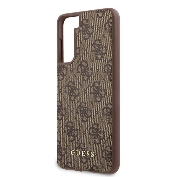s21 - guess guhcs21sg4gfbr samsung galaxy s21 brown hard case 4g metal gold logo - 6 - krytarna.cz
