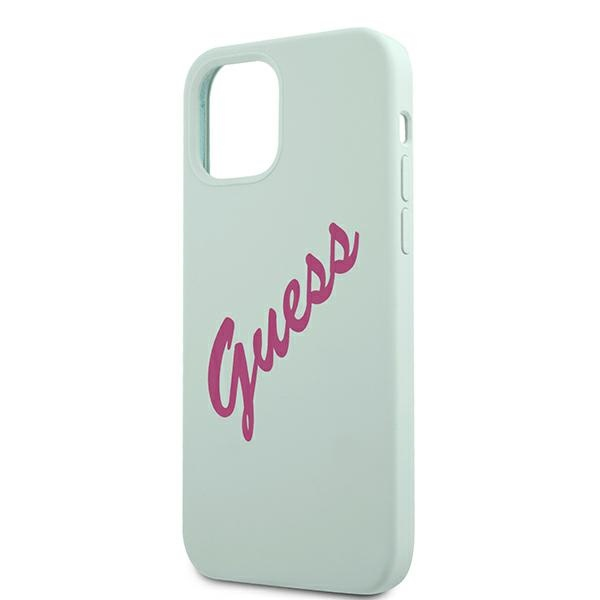 iphone 12 pro max - guess guhcp12llsvsbf apple iphone 12 pro max blue fuschia hardcase silicone vintage - 6 - krytarna.cz
