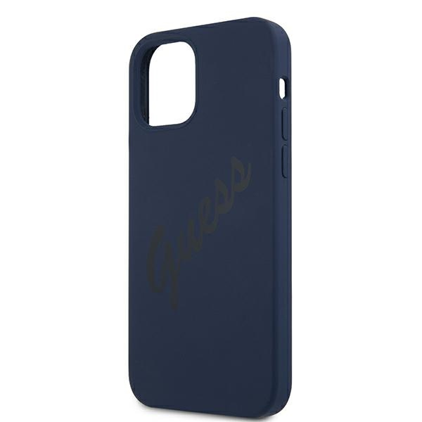 iphone 12 pro max - guess guhcp12llsvsbl apple iphone 12 pro max blue hardcase script vintage - 6 - krytarna.cz