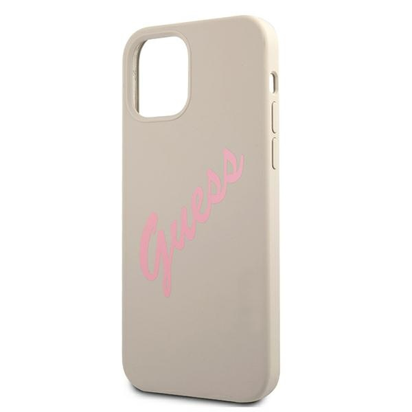 iphone 12 pro max - guess guhcp12llsvsgp apple iphone 12 pro max grey pink hardcase silicone vintage - 6 - krytarna.cz