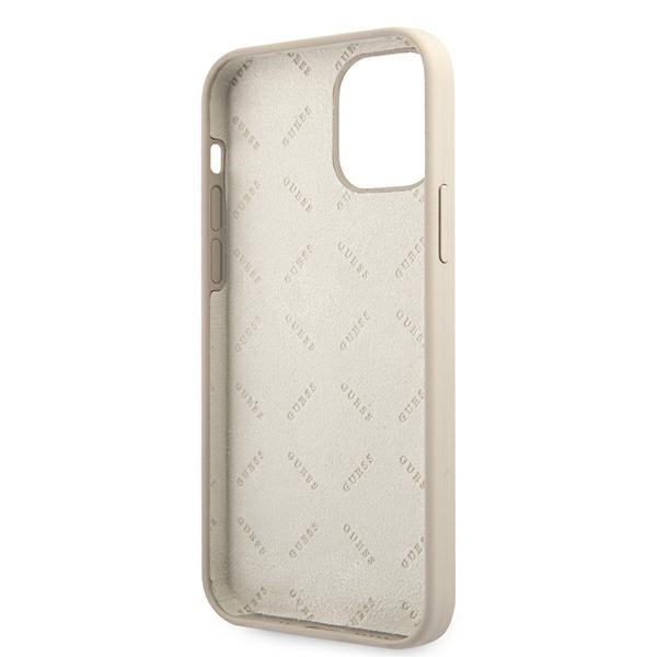 iphone 12 pro max - guess guhcp12llsvsgp apple iphone 12 pro max grey pink hardcase silicone vintage - 7 - krytarna.cz
