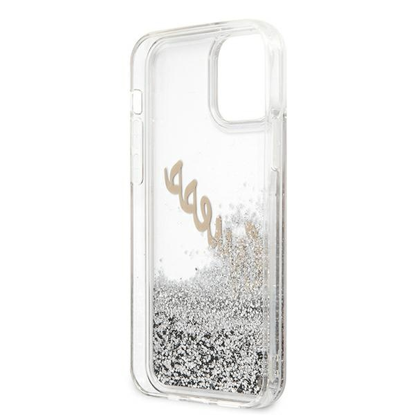 iphone 12 pro - guess guhcp12mglvssi apple iphone 12/12 pro silver hardcase glitter vintage script - 8 - krytarna.cz