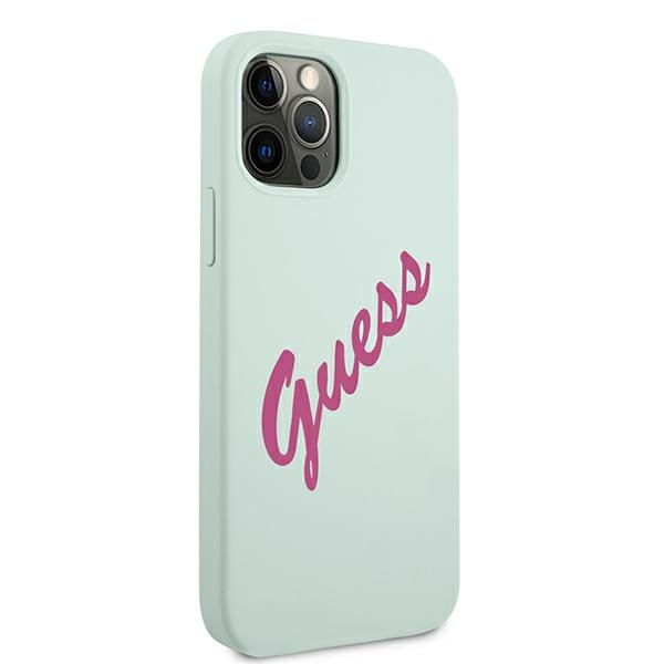 iphone 12 pro - guess guhcp12mlsvsbf apple iphone 12/12 pro blue fuschia hardcase silicone vintage - 4 - krytarna.cz