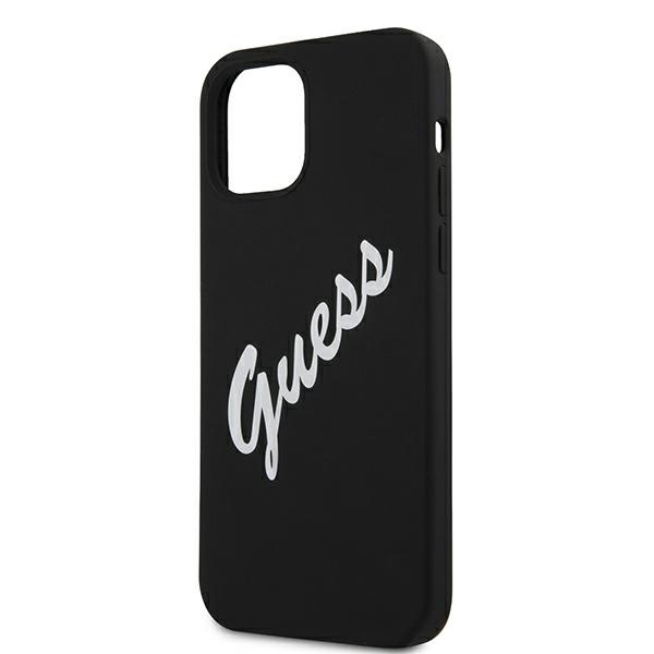 iphone 12 pro - guess guhcp12mlsvsbw apple iphone 12/12 pro black white hardcase silicone vintage - 6 - krytarna.cz