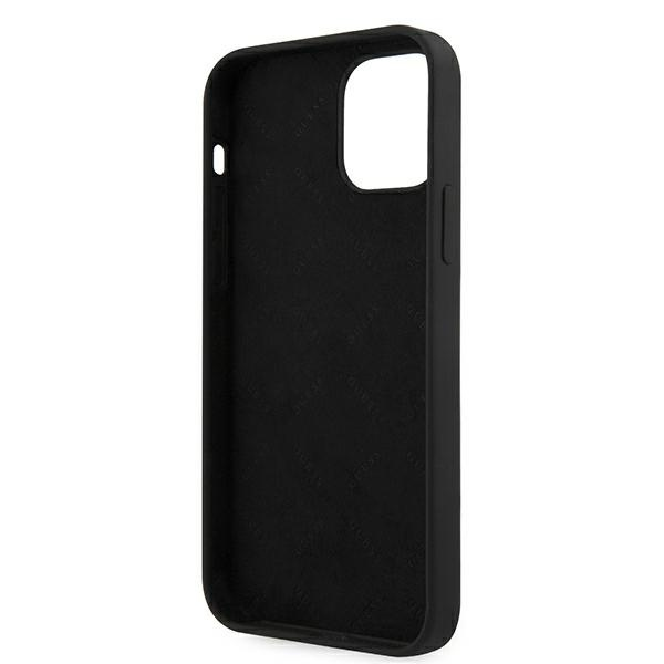 iphone 12 pro - guess guhcp12mlsvsbw apple iphone 12/12 pro black white hardcase silicone vintage - 7 - krytarna.cz
