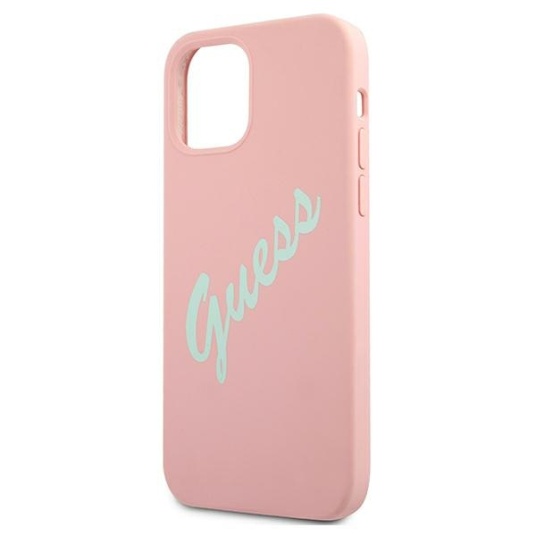 iphone 12 pro - guess guhcp12mlsvspg apple iphone 12/12 pro green pink hardcase silicone vintage - 6 - krytarna.cz