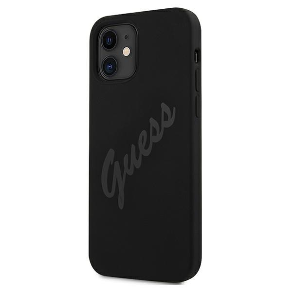 iphone 12 mini - guess guhcp12slsvsbk apple iphone 12 mini black hardcase script vintage - 2 - krytarna.cz