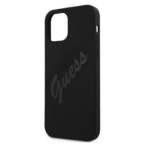 iphone 12 mini - guess guhcp12slsvsbk apple iphone 12 mini black hardcase script vintage - 6 - krytarna.cz