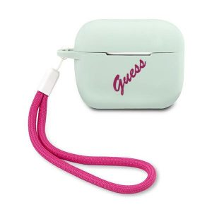 AirPods - Guess GUACAPLSVSBF Apple AirPods Pro cover blue fuschia Silicone Vintage - 1 - krytarna.cz