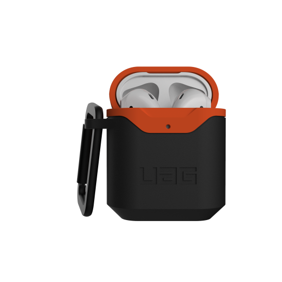 airpods - uag urban armor gear v2 apple airpods 1/2 (black/orange) - 1 - krytarna.cz