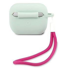 AirPods - Guess GUACAPLSVSBF Apple AirPods Pro cover blue fuschia Silicone Vintage - 2 - krytarna.cz