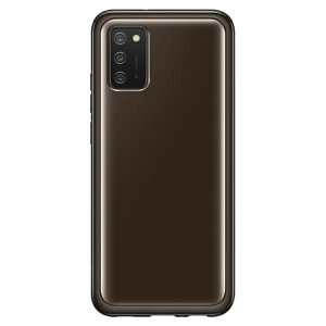 More A Series - Samsung Galaxy A02s EF-QA026TB Clear Cover Black - 1 - krytarna.cz