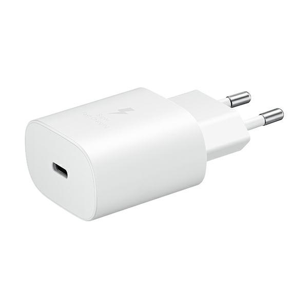 wall chargers - samsung wall charger ep-ta800xw pd 25w c + usb-c cable 1m white - 2 - krytarna.cz