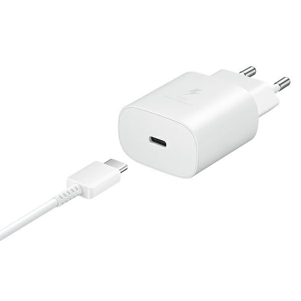 wall chargers - samsung wall charger ep-ta800xw pd 25w c + usb-c cable 1m white - 5 - krytarna.cz