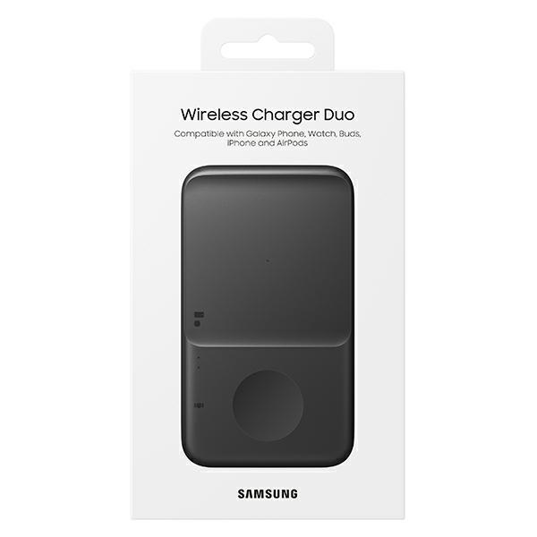 wireless chargers - samsung duo wireless charger ep-p4300tb black - 7 - krytarna.cz