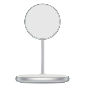 Wireless chargers - Baseus Swan MagSafe Magnetic Stand with Wireless Charger for iPhone 12 (white) - 1 - krytarna.cz