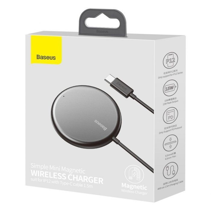 wireless chargers - baseus simple mini magnetic induction wireless charger